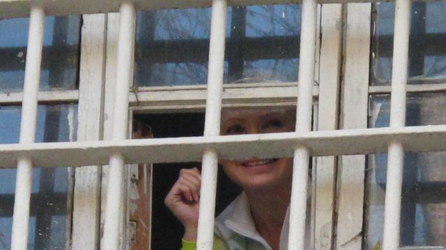 Ioulia Timochenko dans sa prison dans Kiev, le 11 avril 2011