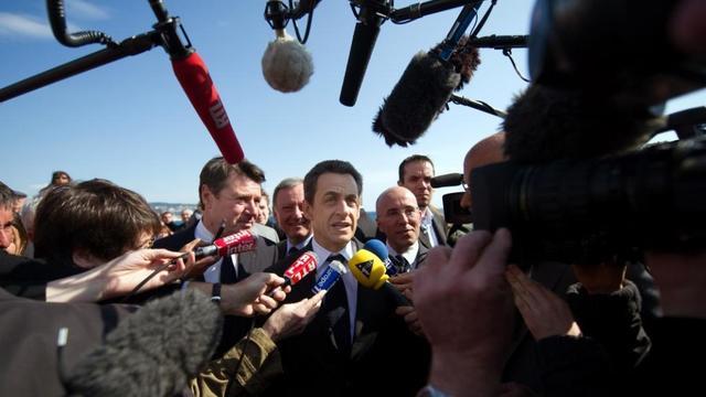 Journalistes et Nicolas Sarkozy