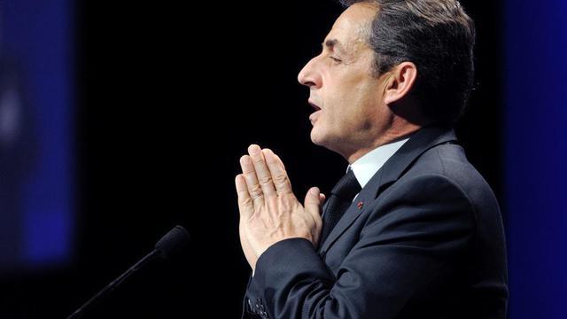 Nicolas Sarkozy en meeting à Strasbourg