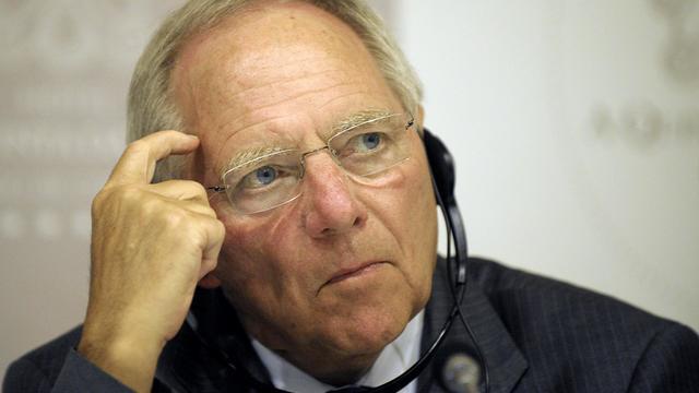 Le ministre allemand des Finances Wolfgang Schaüble le 30 avril 2012