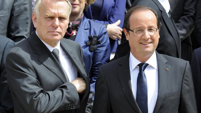 François Hollande et Jean-Marc Ayrault le 4 juillet 2012.