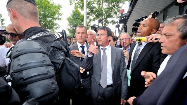 Manuel Valls en visite à Amiens.