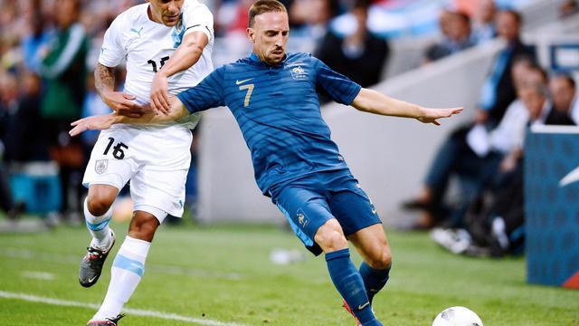 Les trois dernières confrontations entre la France et l'Uruguay se sont soldées par un score nul et vierge.[BERTRAND GUAY / AFP]