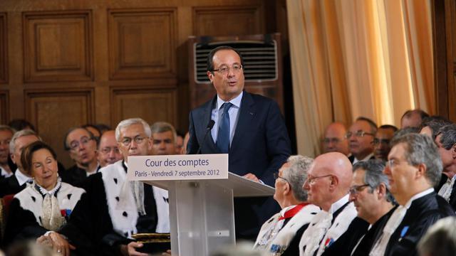 François Hollande Cour des Comptes