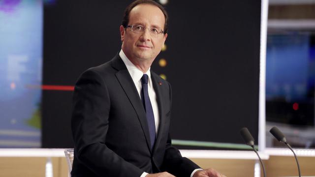 François Hollande lors de son intervention télévisée sur TF1 le 9 septembre 2012