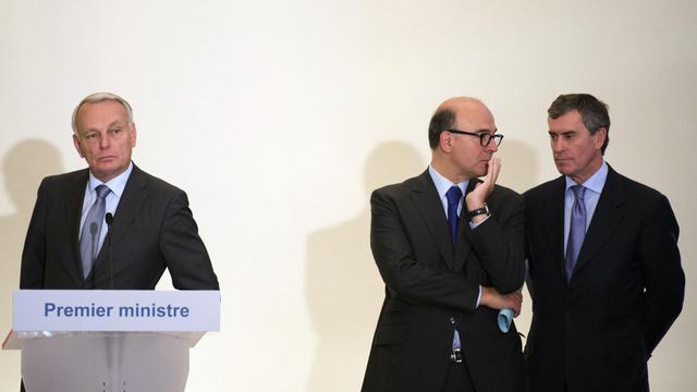 Jean-Marc Ayrault, Pierre Moscovici et Jérôme Cahuzac, le 19 septembre 2012