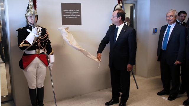 François Hollande inaugure le Mémorial de Drancy, le 21 septembre 2012