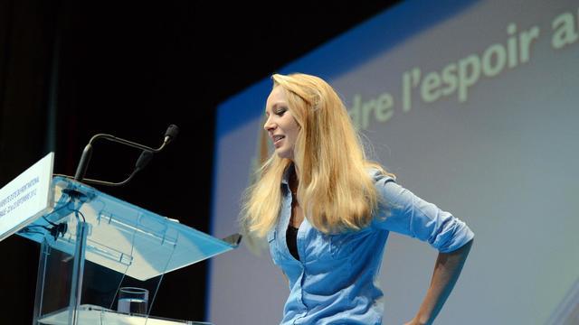 Marion Maréchal-Le Pen, le 23 septembre 2012, lors des universités d'été du Front Nationale.