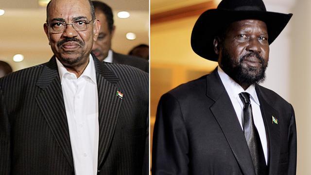 Omar al-Bashir président du Soudan, et Salva Kiir président du Soudan du Sud