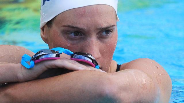Cette photo de la nageuse a été prise à Canet-en-Roussillon, en 2014