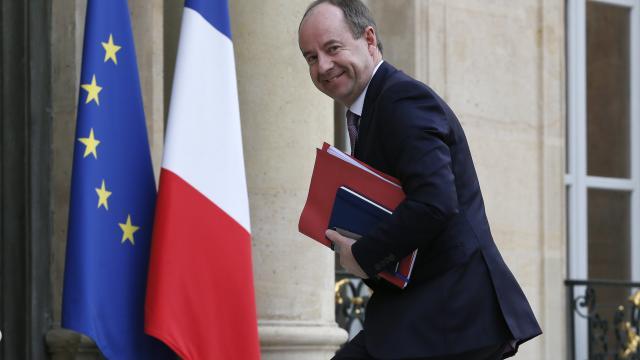 Jean-Jacques Urvoas en février 2015 à l'Élysée.