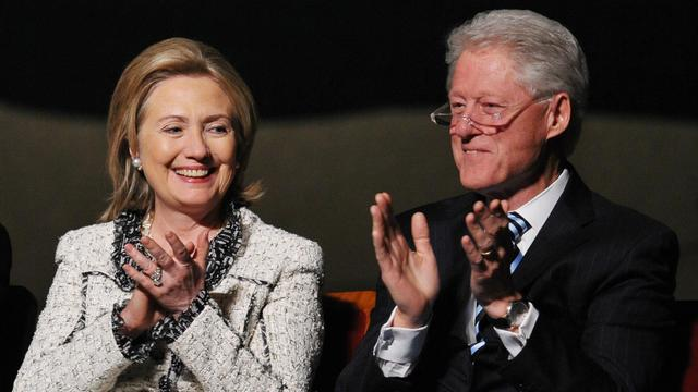 Hillary et Bill Clinton.