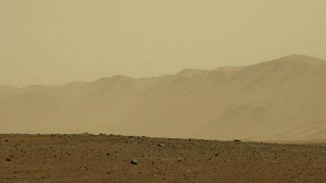 Une photo de Mars prise par Curiosity.