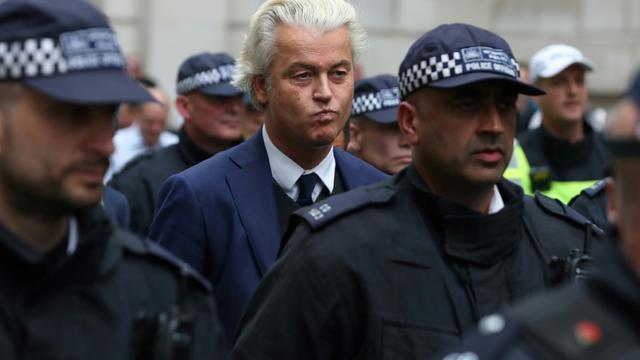 Geert Wilders à Londres le 9 juin 2018 [Daniel LEAL-OLIVAS / AFP/Archives]