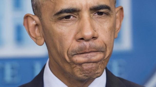 Le président américain Barack Obama, le 14 novembre 2016 à Washington [SAUL LOEB / AFP/Archives]