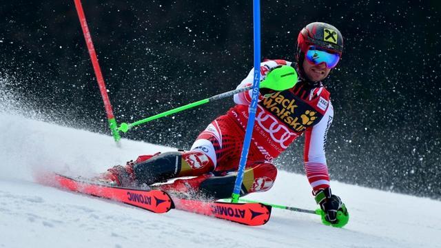 L'Autrichien Marcel Hirscher lors du slalom de Coupe du monde de Kranjska Gora le 10 mars 2019 [Jure Makovec / AFP]