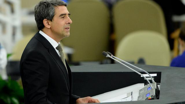 Le président bulgare Rossen Plevneliev le 24 septembre 2013 à l'ONU à New York [Stan Honda / AFP/Archives]