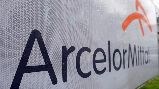 Logo d'ArcelorMittal à Florange [Jean-Christophe Verhaegen / AFP/Archives]