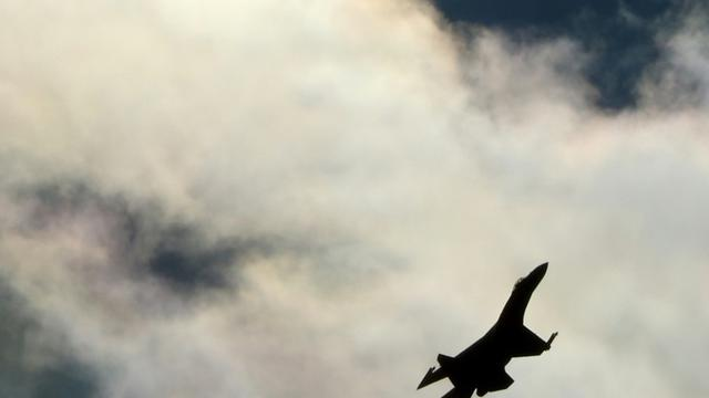 Un avion de chasse de l'armée russe dans le ciel de Moscou, le 27 août 2013 [Kirill Kudryavtsev / AFP/Archives]