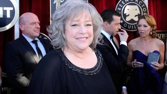 Kathy Bates lors d'une cérémonie à Los Angeles, le 29 janvier 2012 [Kevork Djansezian / Getty Images/AFP/Archives]