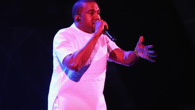 Le rappeur américain Kanye West, sur scène le 1er juillet 2012 à Los Angeles [Christopher Polk / Getty Images/AFP/Archives]