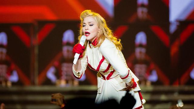 La chanteuse Madonna, le 28 août 2012 à Philadelphie, en Pennsylvanie [Jeff Fusco / Getty Images/AFP/Archives]
