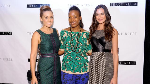 Tracy Reese était sur un petit nuage dimanche à la Fashion Week de New York après avoir été couverte de compliments pour la robe portée mardi par Michelle Obama à la convention démocrate. [GETTY IMAGES NORTH AMERICA]