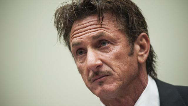 L'acteur américain Sean Penn lors de son audition sur l'affaire Jacob Ostreicher à Washington, le 20 mai 2013 [Kris Connor / Getty Images/AFP]