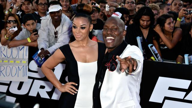 "Les acteurs Tyrese Gibson et Lyndriette Kristal Smith présentent ""Fast and Furious 6"", le 21 mai 2013 à Universal City [Frazer Harrison / Getty Images/AFP/Archives]"