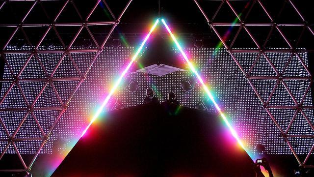 Le groupe Daft Punk en concert à Las Vegas, le 27 octobre 2007 [Karl Walter / Getty Images/AFP/Archives]