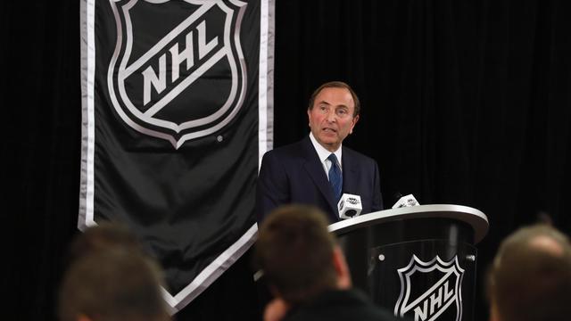Le patron de la LNH Gary Bettman, lors d'une conférence de presse, le 13 septembre 2012 à New York. [Bruce Bennett / AFP/Getty Images]