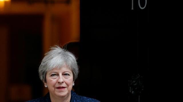 La Première ministre britannique Theresa May, le 10 octobre 2018 à Londres [Adrian DENNIS / AFP/Archives]