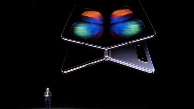 Samsung présente son modèle pliable Galaxy Fold à San Francisco, le 20 février 2019 [Josh Edelson / AFP/Archives]
