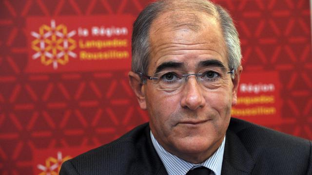 Le président PS de la  Région Languedoc-Roussillon et sénateur des Pyrénées-Orientales, Christian Bourquin, le 19 décembre 2012 à Montpellier [Pascal Guyot / AFP/Archives]