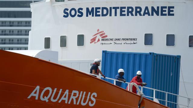 Le navire humantaire Aquarius, le 15 août 2018 à Senglea, à Malte [Matthew Mirabelli / AFP/Archives]
