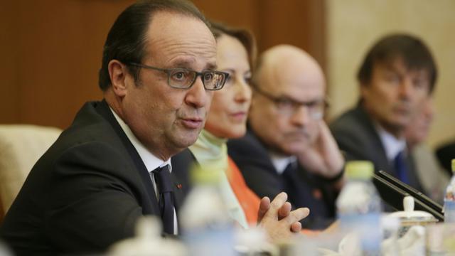 François Hollande le 3 novembre 2015 à Pékin [JASON LEE / POOL/AFP]
