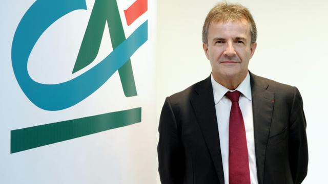 Philippe Brassac, directeur général de Crédit Agricole SA, le 4 août 2015 à Montrouge, près de Paris [ERIC PIERMONT / AFP/Archives]