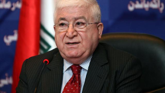 Fouad Massoum, l'acctuel président irakien, en juillet 2010 à Bagdad [Ali al-Saadi / AFP/Archives]