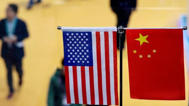 Pendant la première Exposition internationale sur les importations en Chine à Shanghai, en novembre 2018 [Johannes EISELE / AFP/Archives]