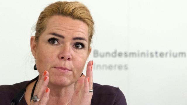 La ministre danoise de l'Immigration Inge Stojberg à Vienne le 4 octobre 2018 [ALEX HALADA / AFP/Archives]