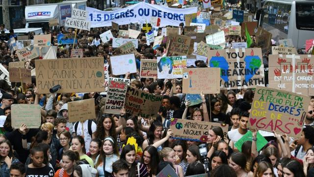 Manifestation pour le climat le 24 mai 2019 à Paris [Alain JOCARD / AFP]