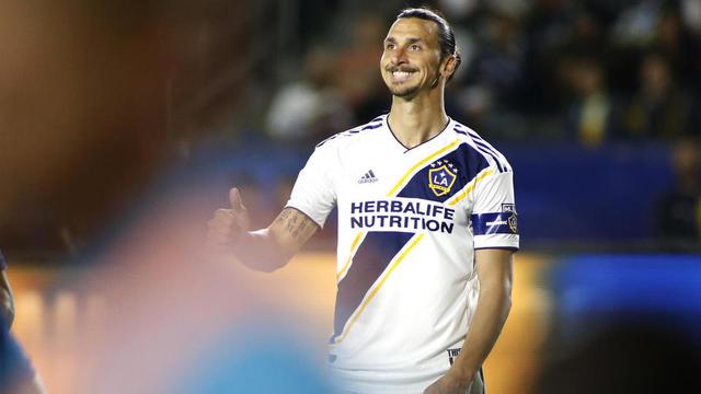 Zlatan Ibrahimovic évolue sous les couleurs des Los Angeles Galaxy.