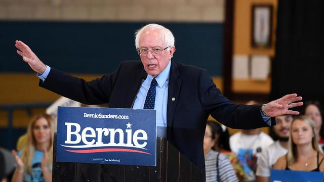 Le candidat démocrate Bernie Sanders lors d'un meeting à Cheyenne, Nevada, le 4 août dernier.