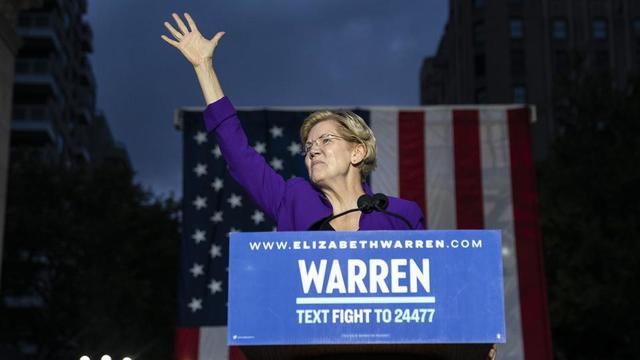 Les deux derniers sondages placent Elizabeth Warren en première place, devant Joe Biden, qui faisait la course en tête depuis le début de la campagne.