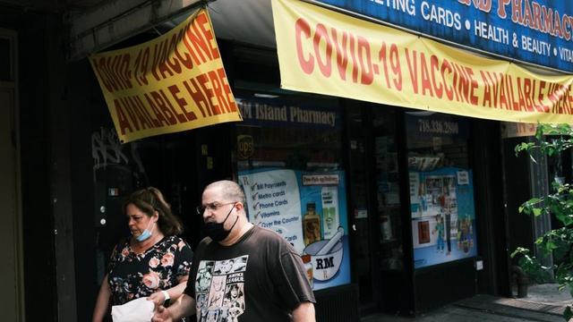 Près de six New-yorkais sur dix (59 %) ont reçu au moins une dose de vaccin anti-Covid.