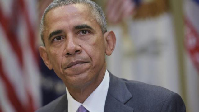 Le président américain Barack Obama, le 10 septembre 2015 à la Maison blanche à Washington [MANDEL NGAN / AFP]