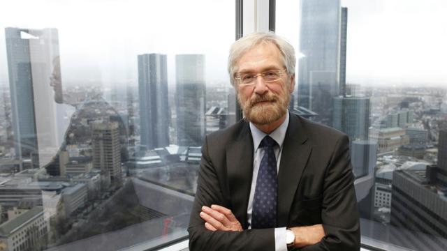 L'économiste en chef de la Banque centrale européenne (BCE), le 15 février 2012 à Francfort [RALPH ORLOWSKI / AFP/Archives]