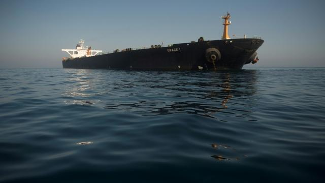 Le pétrolier iranien Grace 1 au large de Gibraltar, le 15 août 2019 [JORGE GUERRERO / AFP]