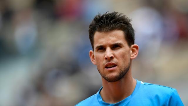 L'Autrichien Dominic Thiem se qualifie pour la finale de Roland-Garros le 8 juin 2019 [Christophe ARCHAMBAULT / AFP]