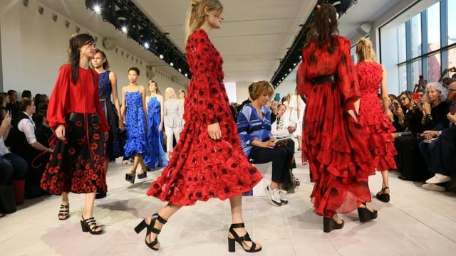 Des modèles du créateur américain Michael Kors, présentés le 16 septembre 2015 à la Fashion Week à New York [TREVOR COLLENS / AFP]